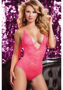 Life In Fast Lace Teddy-coral-os