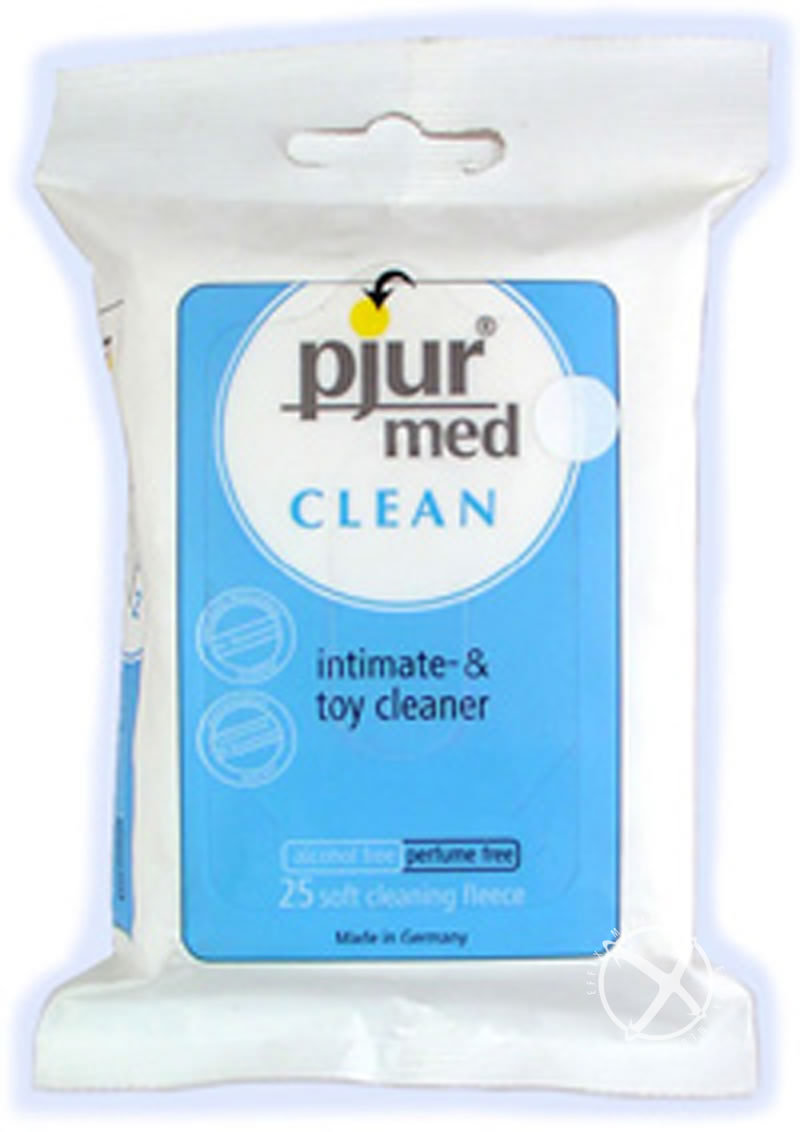 Pjur Med Clean Intimacy Soft Cleaning Fleece And Toy Wipes 25 Per Pack