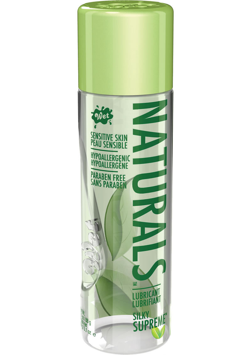 Wet Naturals Silky Supreme Sensitive Skin Silicone Based Lubricant 3.1 Ounce