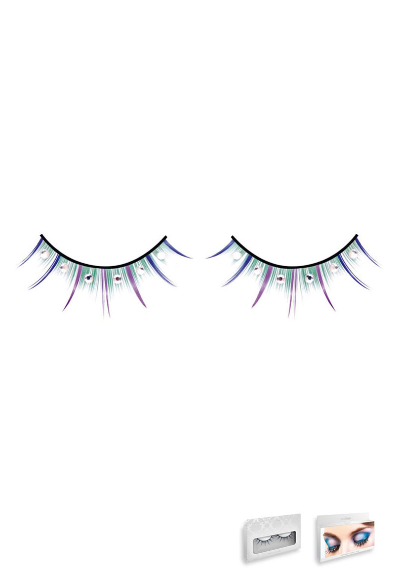 Multi-colored Rhinestone Eyelashes