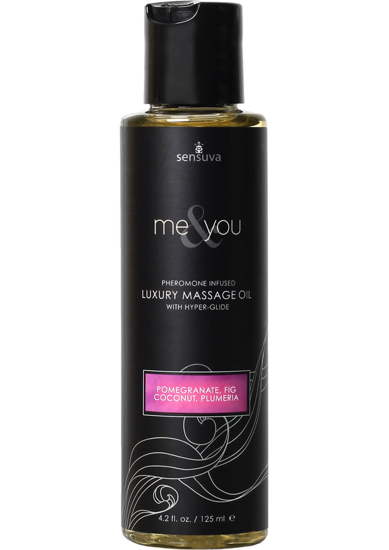 Me And You Pheromone Infused Luxury Massage Oil Pomegranate Fig Coconut Plumeria 4.2 Ounce