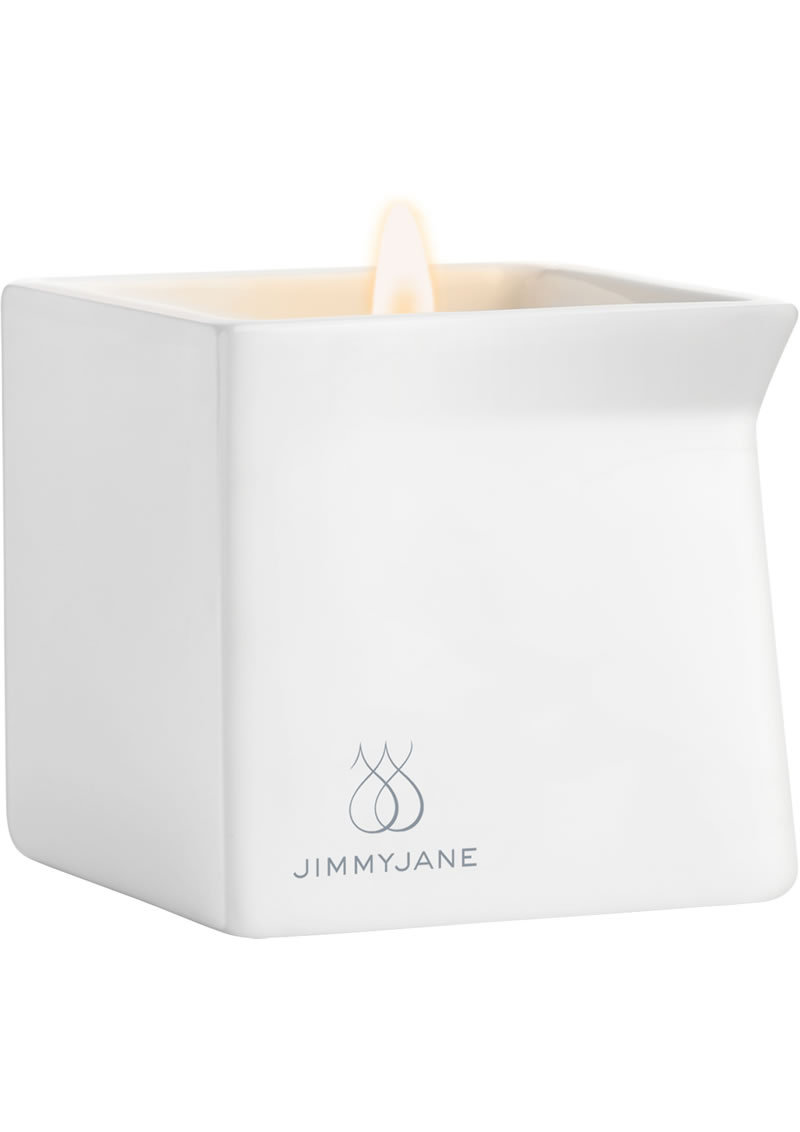 Jimmyjane Afterglow Natural Massage Oil Candle Dark Vanilla 4.5 Ounce