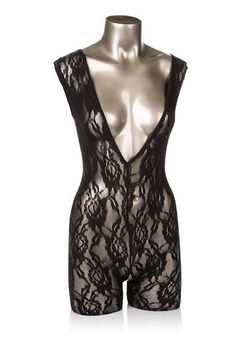 Scandal Lace Body Suit Black